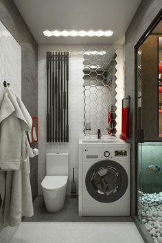 Sink over Washer- One Studio - Ukraine - Bathroom - Humble Homes