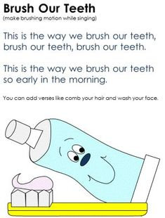 Taking Care Of Teeth Song Math Problems Tooth Fairy