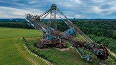 Bagger We joined forces to accomplish something big. We explored the largest abandoned machine in the world. The Blue Wonder (called after its blue pain. Something Big, Abandoned, Germany, Bucket, Explore, Paint, Watch, World, Blue