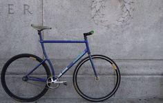 Custom squarebuilt track frame for @CycleHawk  #trackordienyc #squarebuilt #fixedgear #messlife #nyc #fixedforum #velocity #postnofixies #bicycle #cyclehawk. by trackordienyc