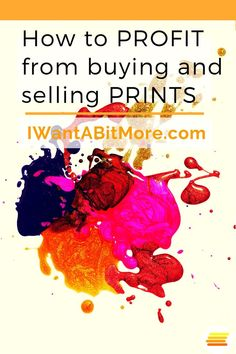 Make money buying and selling art - here's how. This little side hustle involves buying and selling prints.  Easy to enter, and a quite addictive way to work from home!  #makemoney #sidehustle #workfromhome #workonline