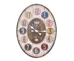 Reloj de pared oval París - 43x58 cm