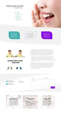 #układgraficzny #layout z kategorii stomatologia. Lekki, przejrzysty i minimalistyczny. #webdesign #divi #elegantthemes #divitheme #worpress