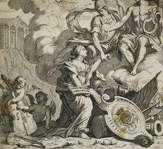 Music introduced to Apollo by Minerva - William Hogarth