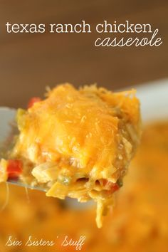Texas Ranch Chicken Casserole on MyRecipeMagic.com