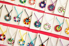 nail polish washer necklaces