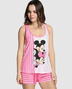 Camiseta de pijama de Disney para Easy Wear Íntimo con Mickey y Minnie Mouse Disney Pjs, Disney Girls, Disney Outfits, Cute Outfits, Under Dress, Girls World, Nightwear, Night Gown, Women Wear