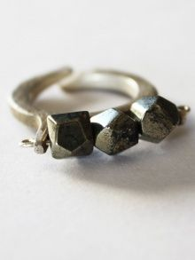 Pyrite Stones Ring | NOT JUST A LABEL