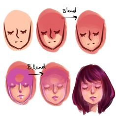 Digital Drawing Tips Drawing Techniques, Drawing Tips, Drawing Sketches, Art Drawings, Drawing Faces, Painting Illustrations, Art Paintings, Digital Painting Tutorials, Digital Art Tutorial