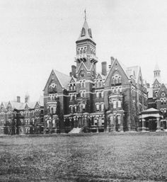 "A picture of Danvers State Lunatic Asylum in Danvers, Mass. This one was closed in 1992 and was used in the film ""Session 9"". I've also seen it on some of those ghost-hunting shows."