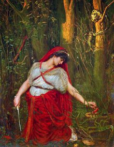 Victorian British Painting: Valentine Cameron Prinsep Medea the Sorceress (1880)
