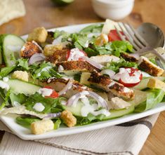 Jarní zeleninový salát z grilovaným kuřecím masem « Recepty na grilování