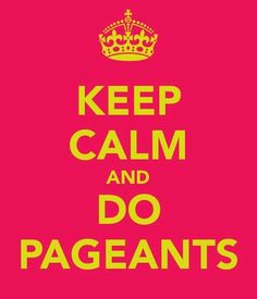 I love Pageants, especially NAM pageants because, I participated in them.