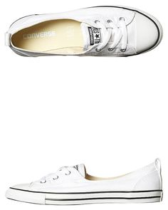 CONVERSE CHUCK TAYLOR ALL STAR BALLET LACE SHOE - WHITE