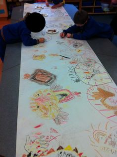 Aboriginal cave drawings Harmony Day Activities, Hands On Activities, Preschool Boards, Preschool Art, Aboriginal Culture, Aboriginal Art, Naidoc Week Activities, Australian Aboriginals, Indigenous Education
