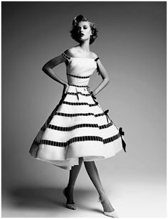 Frida Gustavsson in Dior Couture by Patrick Demarchelier