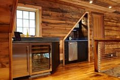 Man Cave Design Ideas, Pictures, Remodel, and Decor - page 20-mini fridge for diet root beer and diet cokes