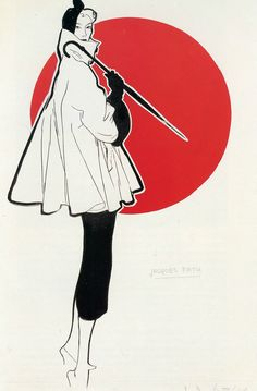 Jacques Fath design from his Spring collection of 1951 as illustrated by René Gruau. | by skorver1