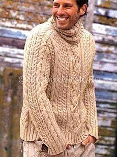 Мужское вязание схема вязания