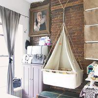 Sleep Space Fixes Studio Apartment Nursery Hanging Bassinet
