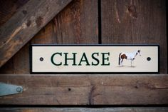 Custom hand painted, wood stall sign, horse portrait, by Simply Equine Design. www.simplyequinedesign.com
