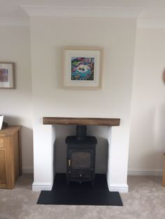 No chimney, no problem! Clearview Pioneer fitted into a false chimney breast #stove #clearview #home http://www.topstak.co.uk/stoves/pioneer-400/