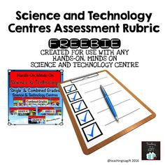 This assessment rubric was created to accompany any of my SCIENCE AND TECHNOLOGY CENTRES.The rubric can be edited using Adobe Reader and teachers can add expectations from any of the Ontario Curriculum Science and Technology Topics (Pulleys and Gears, Rocks and Minerals, Light and Sound, Properties of and Changes in Matter, Conservation of Energy, Forces Acting on Structures and Mechanisms, Flight, Space, Electricity).