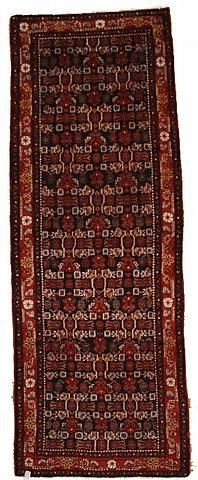 Navy Blue Hamedan Area Rug