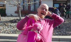 It Takes a Real Man like Bryan Cranston to Wear All Pink and Hug a Teddy Bear