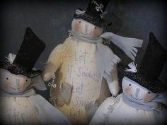 White Christmas Snowmen PRINTED PATTERN by cheswickcompany