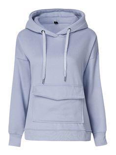 Sale 25% (27.99$) - Casual Plus Velvet Long Sleeve Pullover Hooded Loose Women Sweatshirt