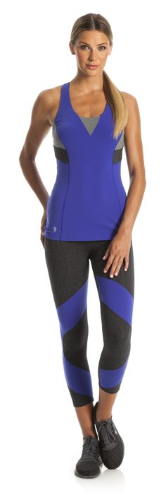 Blue + Grey + Black Tank and Capris Love! Aspen Yoga Mats