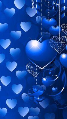 Wallpaper by artist unknown hearts в 2019 г. Butterfly Wallpaper, Heart Wallpaper, Love Wallpaper, Cellphone Wallpaper, Iphone Wallpaper, Royal Wallpaper, Hearts And Roses, Blue Roses, Blue Hearts