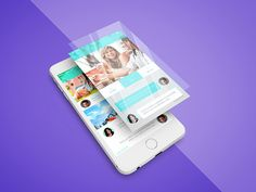 Freebie - iPhone App Screen PSD Mockup by GraphBerry