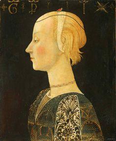 """Giovanni di Ser Giovanni, known as Lo Scheggia, or """"the Splinter"""" (1406-1486 )  Pportrait of a Lady : Museum of Art, Philadelphia. USA    (3108×3763)"""