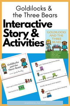Perfect story to share with your preschool & kindergarten children! Kids read the pictures--you read the words!super cute color-by-number pages, order-the-story cards, narration, and memory game! Reading At Home, Kids Reading, Teaching Reading, Fairy Tale Activities, Learning Activities, Goldilocks And The Three Bears, Context Clues, Struggling Readers, Happy Mom