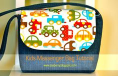 Cute Messenger Bag for kids.  Add this to my list of sewing projects!