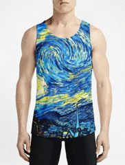 Starry Night / Guys Tank TopsMust Have Gym Fashion Tank Tops Get Best Gym Long Tank-Top OSOM WEAR Abstract Anime Art Comics Fantasy Gaming Horror Minimalistic Movies Music TV Shows Sports