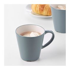 DINERA Mug IKEA With its simple shapes, muted colors and matt glaze, the dinnerware gives a rustic feel to your table setting.