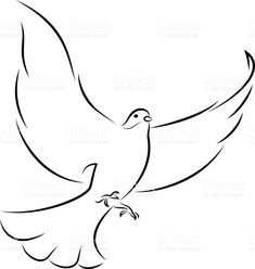 Flying White Dove royalty-free flying white dove stock vector art & more images of dove - bird Line Art Vector, Free Vector Art, Religious Tattoo Sleeves, All Animals Images, Catholic Crafts, Animal Body Parts, White Doves, Henna Designs, Photo Illustration