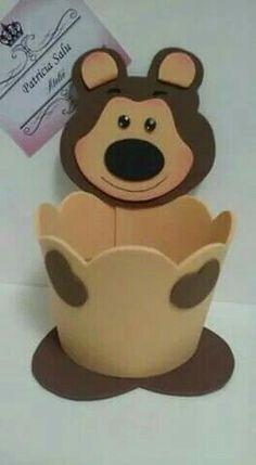 Kids Crafts, Foam Crafts, Preschool Crafts, Diy And Crafts, Paper Crafts, Bear Birthday, 2nd Birthday, Marsha And The Bear, Baby Pop