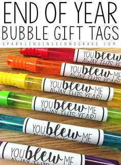 Easy free printable end of year gift bubble tags! All you need to do is add bubbles! Perfect for the end of year student gift! Student Teacher Gifts, Student Teaching, Gifts For Students, Student Gifts End Of Year, Teacher Stuff, Kids Gifts, Pre K Graduation, Preschool Graduation Gifts, Preschool Gifts