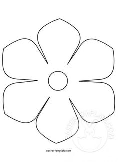 printable flower template free pattern to trace templates be fresh 5 petal flower template free printable Paper Flower Templates Pdf, Felt Flower Template, Easter Templates, Paper Flower Patterns, Leaf Template, Templates Printable Free, Free Printable Flower Templates, Printable Paper, Soda Can Flowers