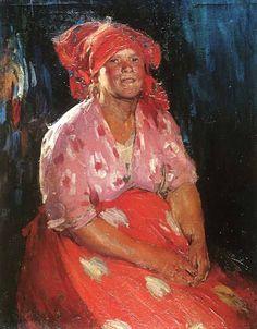 Архипов (1862-1930) Женщина в розовом