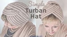 The simple, yet elegant Turban Hat. Loom Knit Hat, Loom Knitting, Free Knitting, Knitted Hats, Knit Crochet, Crochet Hats, Turban Hut, Turban Tutorial, Twist Headband