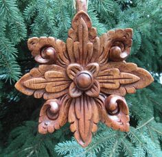 Spirit--- Hand Carved Christmas Ornament In Hard Wood Artisan