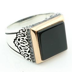 Newly Designed Handcrafted .925 Solid Sterling Silver Black