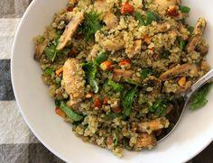 Mushroom Quinoa with Pesto & Almonds