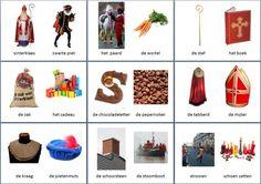 Kleine themakaarten voor het thema sinterklaas, we hebben voor vele thema's grote en kleine themakaarten op de website van Juf Milou.