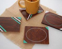 Cómo hacer posavasos de madera decorados | Aprender manualidades es facilisimo.com
